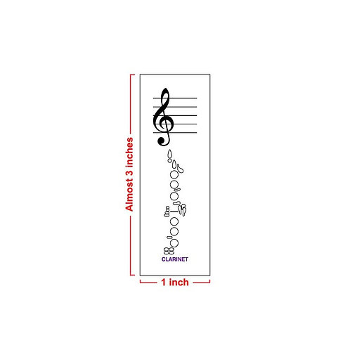 Fingering Chart Post-It Pad - Clarinet