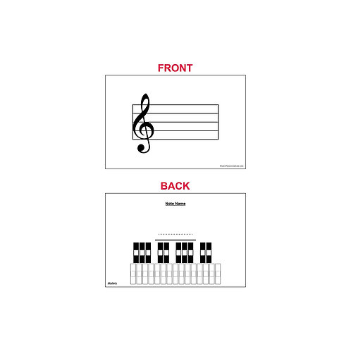 Fingering Chart Flash Cards - Mallet Percussion