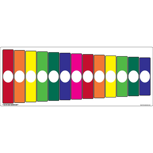 Orff Barred Instrument Dry Erase Magnet - Boomwhacker Colors