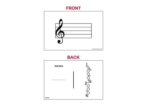 Fingering Chart Flash Cards - Clarinet