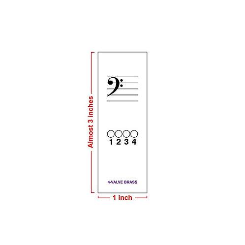 Fingering Chart Post-It Pad- 4-Valve Brass