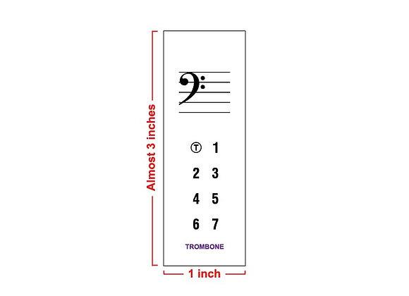 Fingering Chart Post-It Pad - Trombone