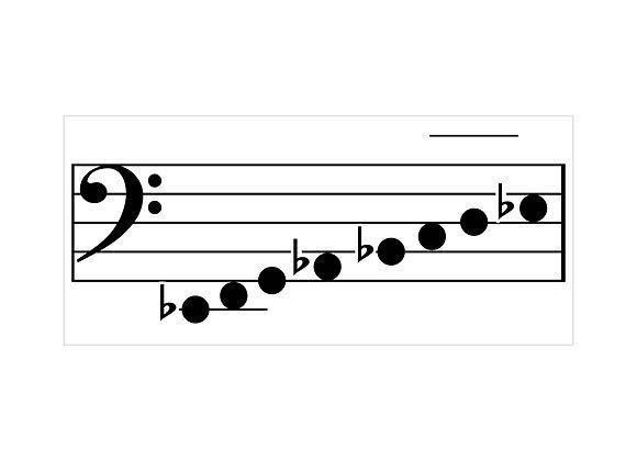 """Bass Scale Speller Floor Mat - 4 ft"""" x 9 ft"""