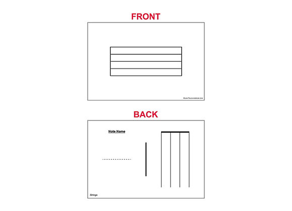 Fingering Chart Flash Cards - Strings
