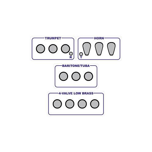 Brass Fingering Chart Magnets Combo Set