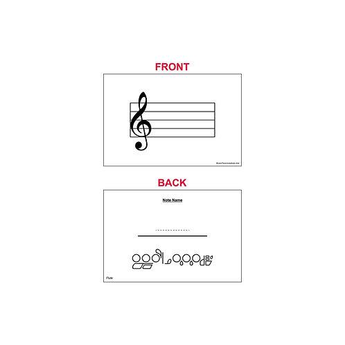 Fingering Chart Flash Cards - Flute