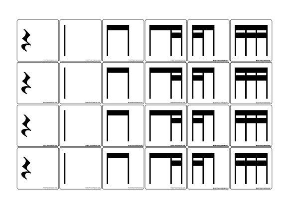 Stick Notation Rhythm Magnets Combo Set