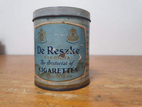 De Reszke Cigarettes tin Bear Wares Vintage www.bearwaresvintage.com.au Old tobacco shop advertising general store