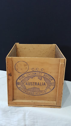 Pure Creamery Butter 56 lb box, Bear Wares Vintage www.bearwaresvintage.com.au Vintage shop advertising, old crates