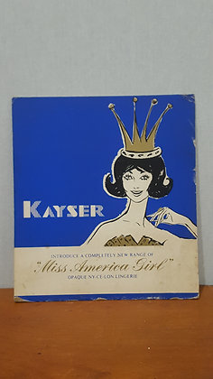 Kayser Miss American Girl Advertising Showcard Bear Wares Vintage www.bearwaresvintage.com.au Old shop advertising