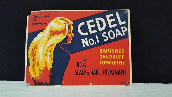 Cedel No 1 Soap Cardboard Advertising. Bear Wares Vintage www.bearwaresvintage.com.au