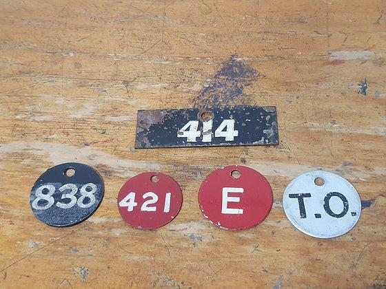 South Australia Metal Railway Tags www.bearwaresvintage.com.au Old railway items