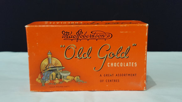 "Macrobertson ""Old Rose"" Chocolate half pound box, Bear Wares Vintage www.bearwaresvintage.com.au Vintage shop advertising"