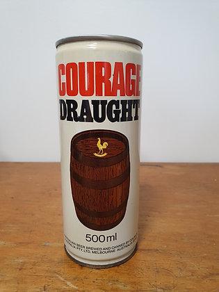 Courage Draught 500ml Steel Can Bear Wares Vintage www.bearwaresvintage.com.au Old beer cans mancave vintage advertising