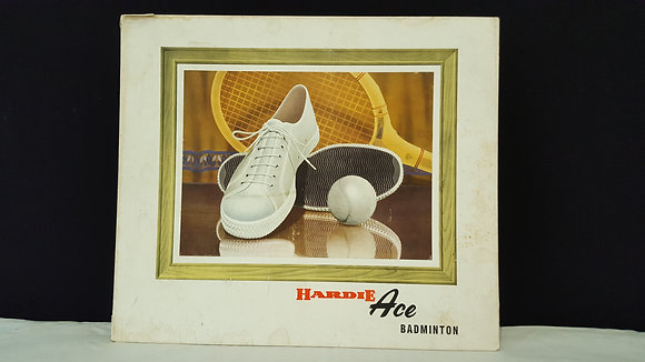 Hardie Ace Badminton Advertising Show Card, Bear Wares Vintage www.bearwaresvintage.com.au Vintage shop display