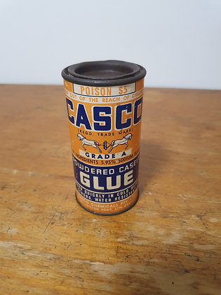 Casco glue tin Bear Wares Vintage www.bearwaresvintage.com.au Old vintage shop advertising general store