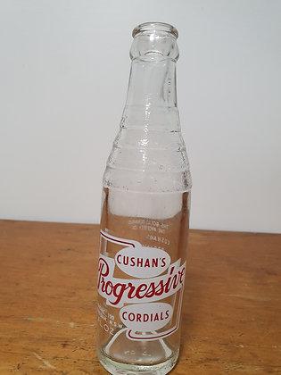Cushan's Progressive Gunnedah 7 oz Ceramic Label bottle www.bearwaresvintage.com.au Old bottles Vintage advertising