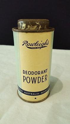 Rawleigh's Deodorant Power tin, Bear Wares Vintage www.bearwaresvintage.com.au Vintage advertising