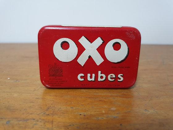 Oxo Cubes Tin, Bear Wares Vintage, www.bearwaresvintage.com.au, old tins, kitchen, vintage kitchen, vintage display