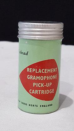 Bear Wares VintageReplacement Gramophone Pick up Cartridge tin, www.bearwaresvintage.com.au Vintage advertising