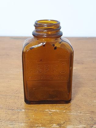 Vintage Aspro Bottle, Bear Wares Vintage, www.bearwaresvintage.com.au, old bottle, shop advertising, general store,