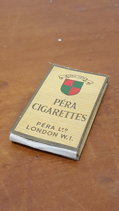 Bear Wares Vintage Pera Cigarettes Packet www.bearwaresvintage.com.au Old shop advertising