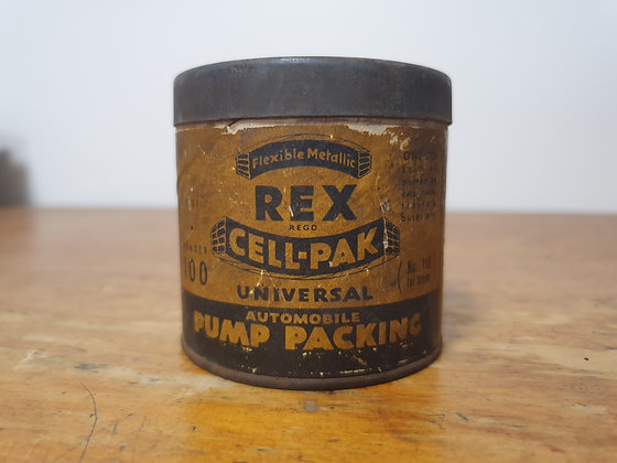 Rex Cell-Pak Tin Bear Wares Vintage www.bearwaresvintage.com.au Old shop advertising general store