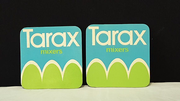 Tarax mixers coasters (2), Bear Wares Vintage www.bearwaresvintage.com.au Vintage advertising