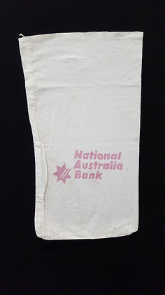 Vintage NAB Material Bank bag. Bear Wares Vintage www.bearwaresvintage.com.au Vintage bank advertising