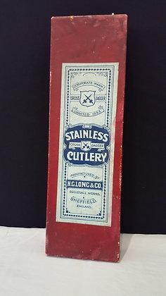 Sheffield Cutlery Cardboard Box - Table Knives, Bear Wares Vintage www.bearwaresvintage.com.au Vintage shop advertising