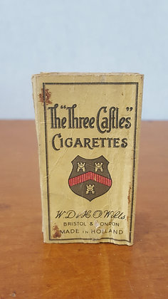 Bear Wares Vintage The Three Caftles Cigarette Packet www.bearwaresvintage.com.au Old shop advertising