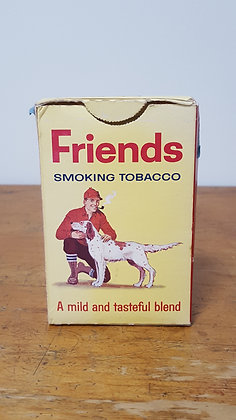 Friends Smoking Tobacco Cardboard box  Bear Wares Vintage www.bearwaresvintage.com.au Old shop advertising