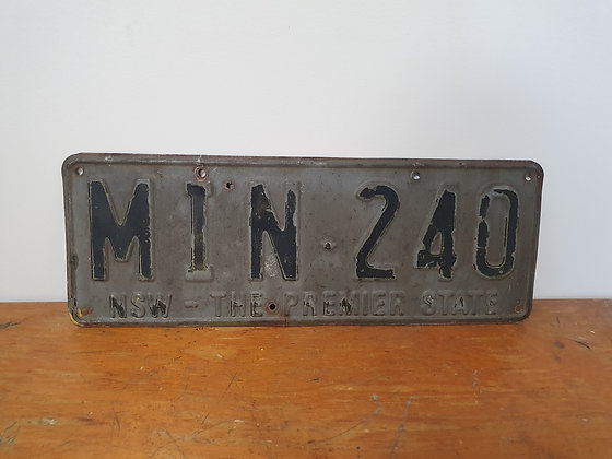 Old Numberplate, Bear Wares Vintage, www.bearwaresvintage.com.au, old signs, mancave, back in the day, shed art, mancave