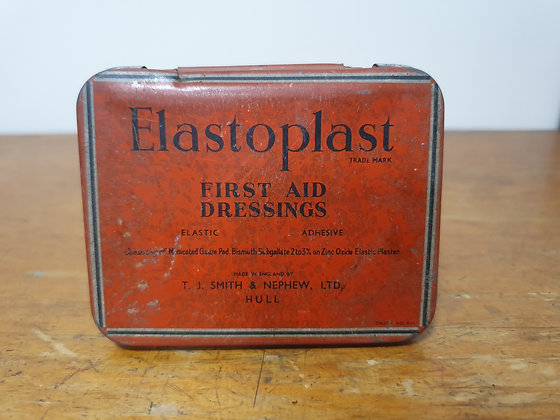Elastoplast First Aid Dressing Tin Bear Wares Vintage www.bearwaresvintage.com.au Old shop advertising general store