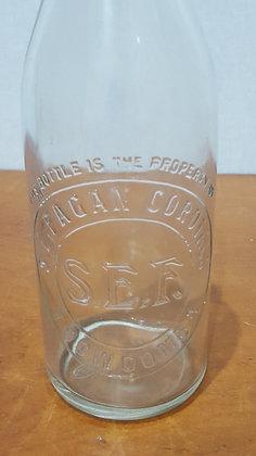 S.E. Fagan Cordials 24 oz Embossed Crown Seal Bottle Bear Wares Vintage www.bearwaresvintage.com.au Old bottles
