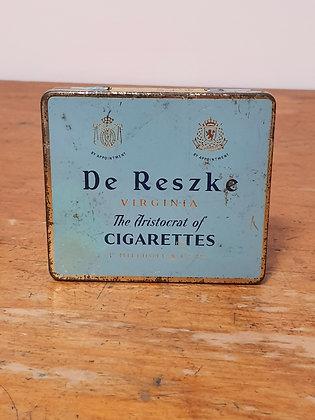 De Reszke Virginia Cigarettes Tin Bear Wares Vintage www.bearwaresvintage.com.au Old tobacco tin advertising shop