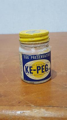 Ke-Peg Paper Label Jar Bear Wares Vintage www.bearwaresvintage.com.au Old shop advertising