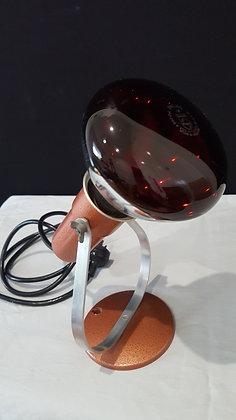 Bear Wares Vintage Retro Lamp with Red Heat light bulb, www.bearwaresvintage.com.au