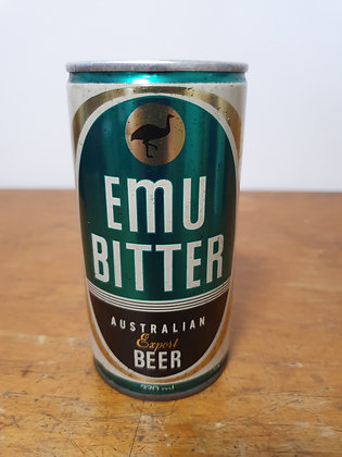 Emu Bitter Export Beer 370ml Steel Can Bear Wares Vintage www.bearwaresvintage.com.au Old beers steel cans mancave