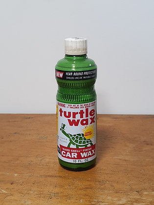 Turtle Wax Ceramic Label 10 fl oz Bottle Bear Wares Vintage www.bearwaresvintage.com.au Old shop advertising ceramic label
