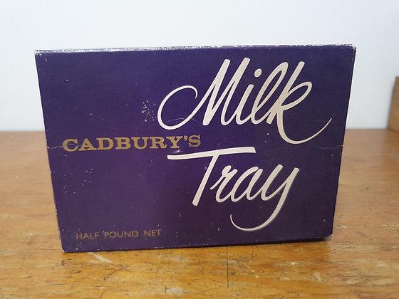 Cadbury Milk Tray Cardboard Box www.bearwaresvintage.com.au Old general store shop advertising