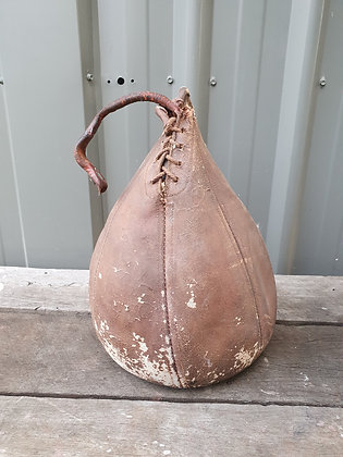 Old Original Leather Speedball, Bear Wares Vintage, www.bearwaresvintage.com.au, boxing, repurpose, vintage interiors