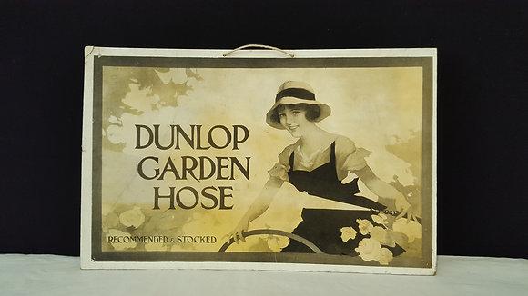 Dunlop Garden Hose Advertising Show Card, Bear Wares Vintage www.bearwaresvintage.com.au Vintage shop display