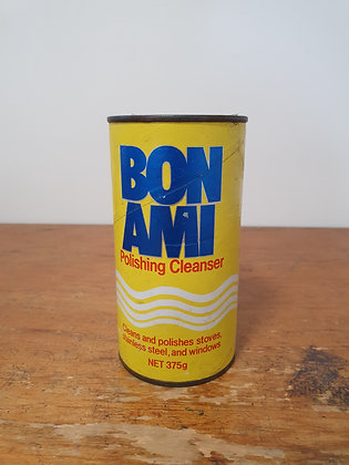 Bon Ami Cleanser Tin, Bear Wares Vintage, www.bearwaresvintage.com.au, old shop advertising, old tins, back in the day,