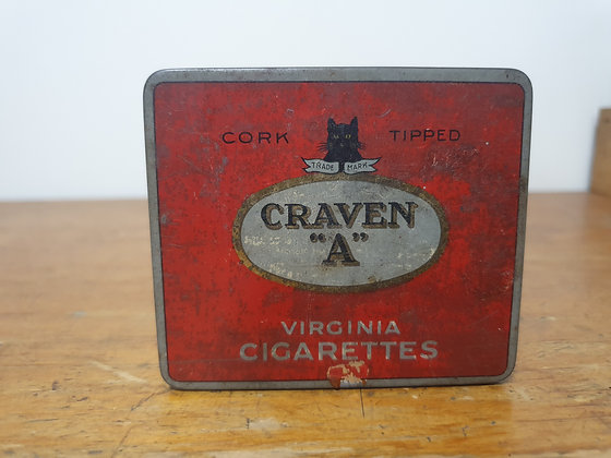 Craven A Tobacco Tin Bear Wares Vintage www.bearwaresvintage.com.au Old tobacco shop advertising