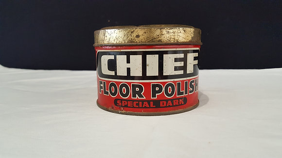 Chief Floor Polish Special Dark tin, Bear Wares Vintage www.bearwaresvintage.com.au Vintage advertising