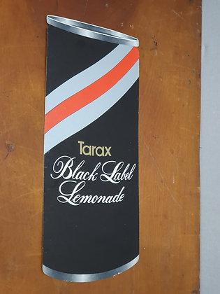 Tarax Black Label Lemonade Can Cardboard Advertising Showcard