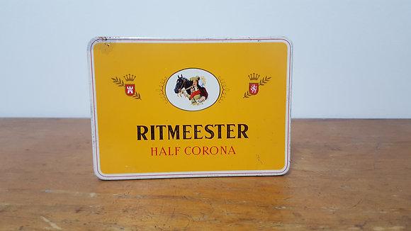 Ritmeester Half Corona Cigarette Tin Bear Wares Vintage www.bearwaresvintage.com.au Old shop adveritising Tobacco tin