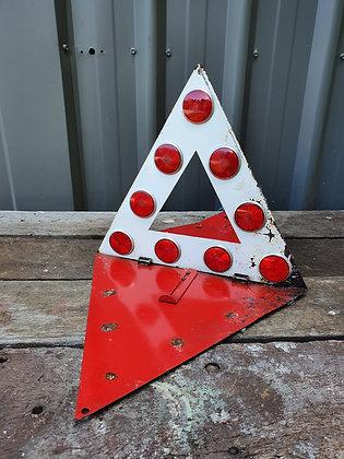 Old Road Warning Sign, Bear Wares Vintage, www.bearwaresvintage.com.au, sign, mancave, shed, garagenalia, vintage interiors