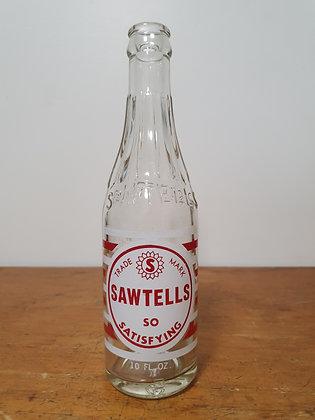 Sawtells Kingaroy 10 oz Ceramic Label Bottle www.bearwaresvintage.com.au Old bottles Vintage advertising General store